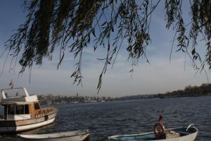 Istanbul Boats with Leafs by crazytux