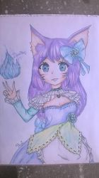 Frost Princess Ahri by BrighterAngel