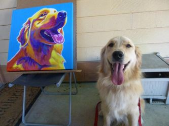 Madison and her painting by dawgart