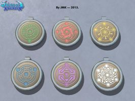 Moon Crest Pendants 2 by JohnK222