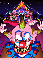 Drawlloween 2016, Oct 2nd - Carnival Creeps by MichaelJLarson