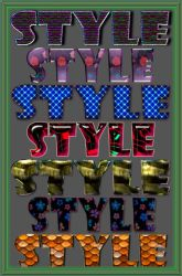 Original styles for Photoshop by Gala3d