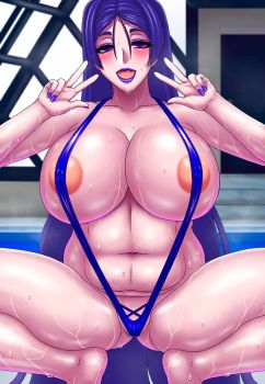Sexy Babe Minamoto in Her Sexy Purple Sling Bikini by Chrisdewees10