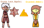 Crazy Lace Agate and Cracked Amber by TheUltimateMagikarp