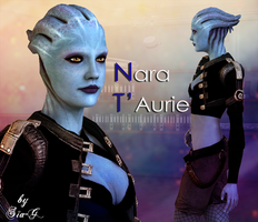 Mass Effect: Nara T'Aurie (OC) model for XnaLara by Sia-G