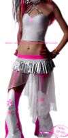 Pink silver white outfit by love-on-a-stick