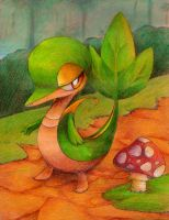 Snivy is so green and bright