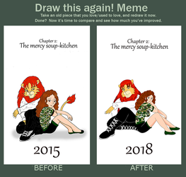 Draw this again meme- Cover chapter number 2 by OMIT-Story