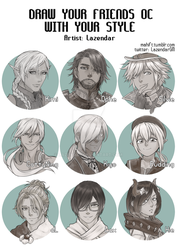 Friend OC meme v2: Males by lazendar
