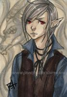 aceo - mist dragon by pencil-butter
