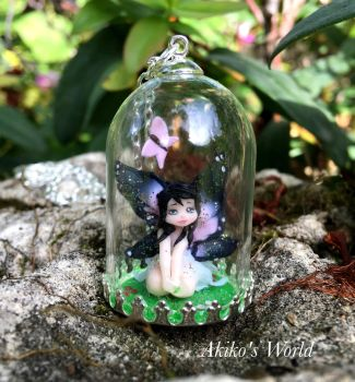 Tiny fairy under a glass dome by Akiko-s-World