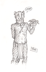 ''Daily'' sketch - Cheet by 0laffson