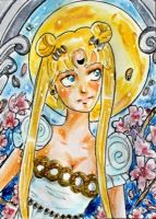 ACEO 132 Princess of the Moon by Favolee