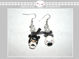 Japan Life - Earrings Geisha White by AyumiDesign