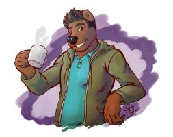 Coffee with Brown Bear by KingdomBlade