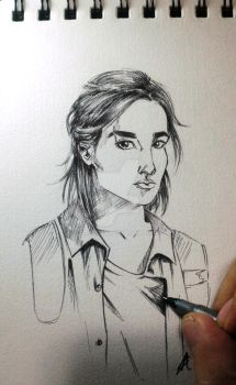 Ellie Sketch from The Last Of Us 2 by GabAroa
