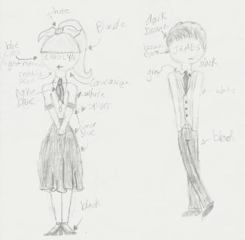 Carolyn and James (Colorless color reference what) by Petpettails123