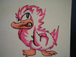 pissed off pink ducky by megamike75