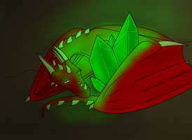 His green crystal by Adela555