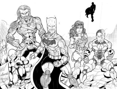 Justice League wip by Zaatis