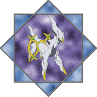 Arceus Stained Glass by Blackmoonrose13