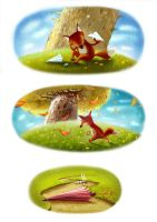 The story about a little fox by iravgust