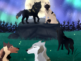 Wolves assembly by OmbreGrise
