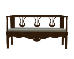 transparent bench front 3d png by madetobeunique