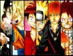 Bad Ass Males of Anime by Randazzle100