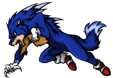 Sonic the werehog (COLOR) by SoniKwolf1498