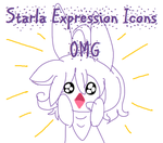Starla Expression Icons ft MS Paint Title Card by Momo-butt