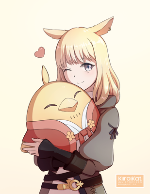 Happy New Chocobo by KiiroiKat