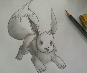 Trying to Eevee. by Kyurem000