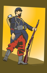 France Poilu 1914 by MercenaryGraphics