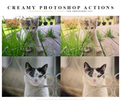Photoshop Creamy Actions by meganjoy
