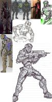 Fore Runner armor workflow pt1 by donVega123