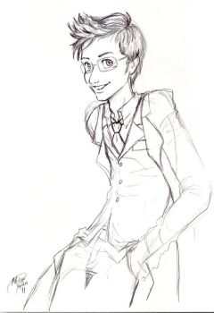 The Doctor -rough sketch- by dragonnova