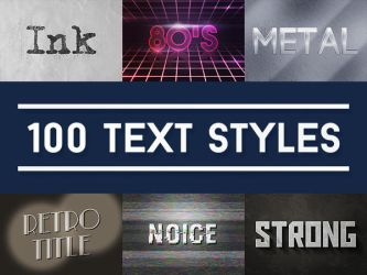 100 Text Effects for Photoshop Pack by mkrukowski