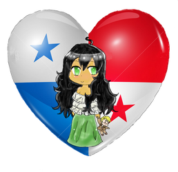 Panama Chibi Heart Flag Series by Spirit-Okami