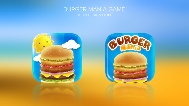 Burger making game icon design by Dexign-Oxigen