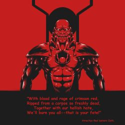 Atrocitus - with red lantern oath by BlackGuard89