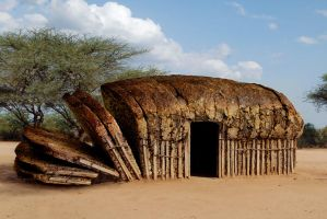 African Bread Hut by Onanymous