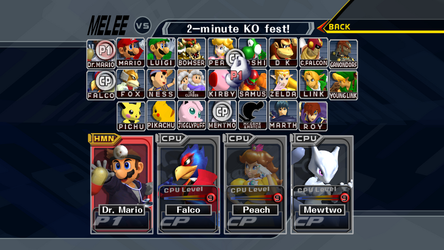 Super Smash Bros. Melee HD CSS (Dolphin DOWNLOAD) by ConnorRentz
