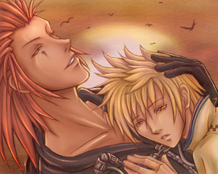 KH2- Fall with me by tealgeezus
