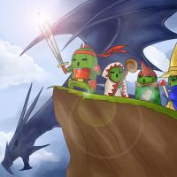 The 4 Warriors of Cactuar by Hideyo