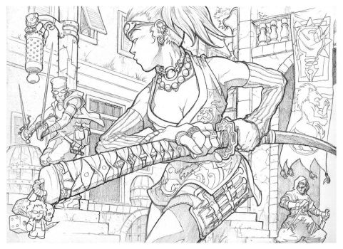 Alleyway - Dirty Pencils by Inkthinker