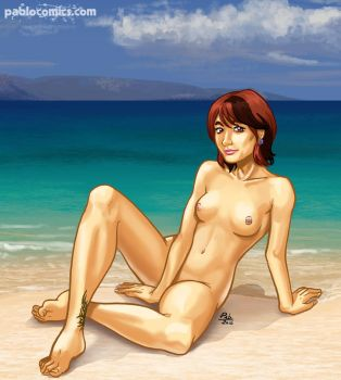 Beach gal by Pablocomics