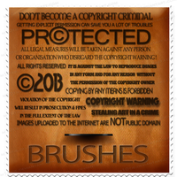 Copyright Brushes part 1 by M10tje