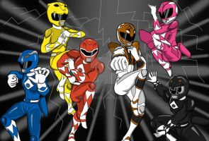 Mighty Morphin Power Rangers by bsmit93
