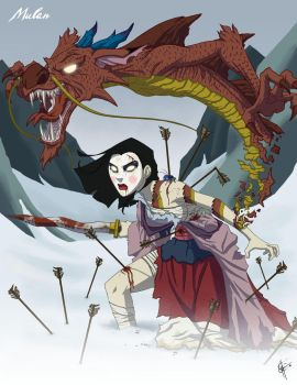 Twisted Princess: Mulan by jeftoon01